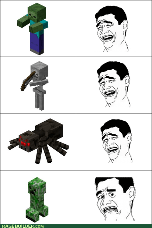 mobs enemy yao face video game minecraft creepers
