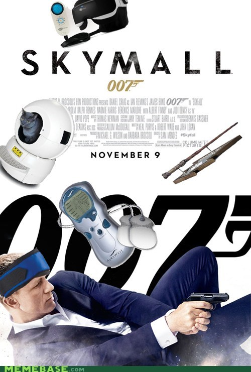 take it with you,skymall,skyfall,007,james bond,movies