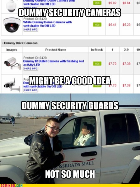 security,for dummies,mall cop,cameras