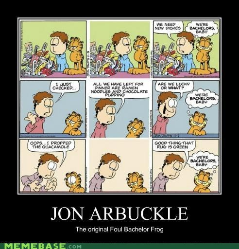 Jon Arbuckle,foul bachelor frog,garfield,shrek