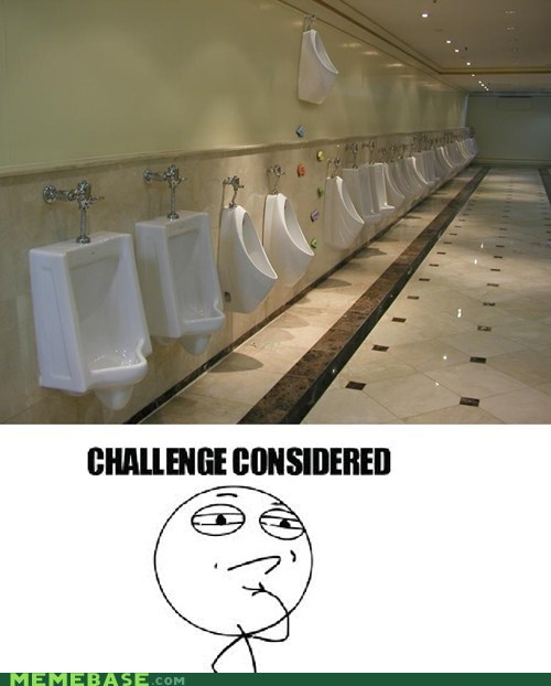 Challenge Accepted peeing urinal - 6669287424