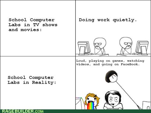 studying computer lab school computer soon rainbow - 6669481472