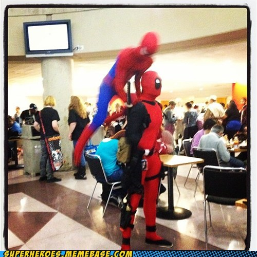 deadpool,Spider-Man,costume,awesome