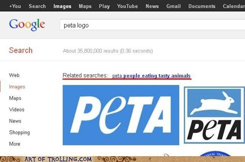 peta google people eating tasty animals - 6670055168