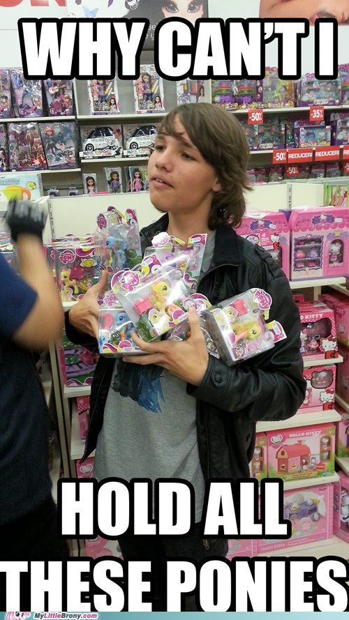 why-cant-i-hold Bronies toys IRL meme - 6670355968