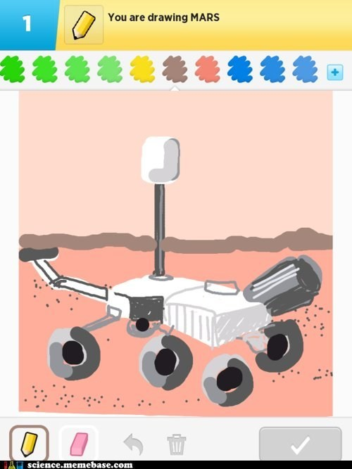 drawing,Mars,curiosity,rover