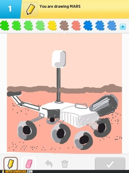 mars rover,curiosity,draw something