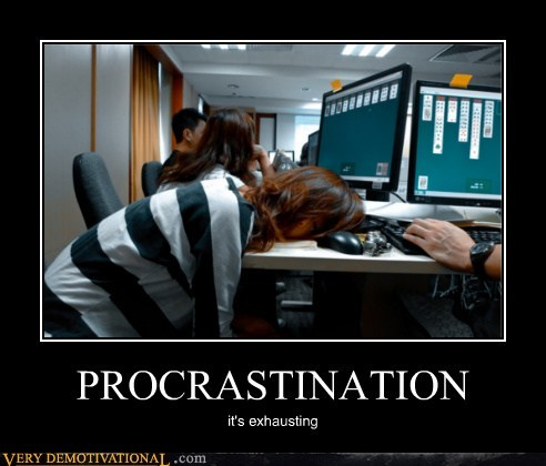 procrastination exhausting solitaire