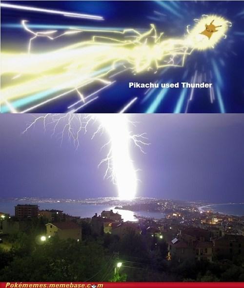 pikachu thunder IRL lightning - 6670826752