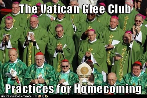 vatican Pope Benedict XVI homecoming practice glee club singing - 6671165952