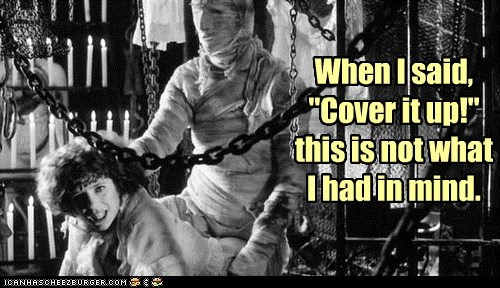 "When I said, ""Cover it up!"" this is not what I had in mind."