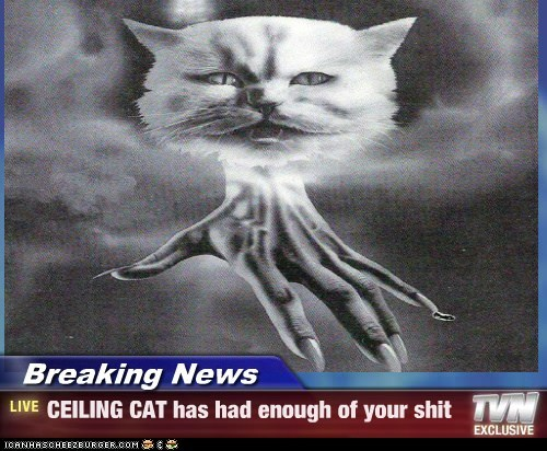 Breaking News - CEILING CAT has had enough of your shit