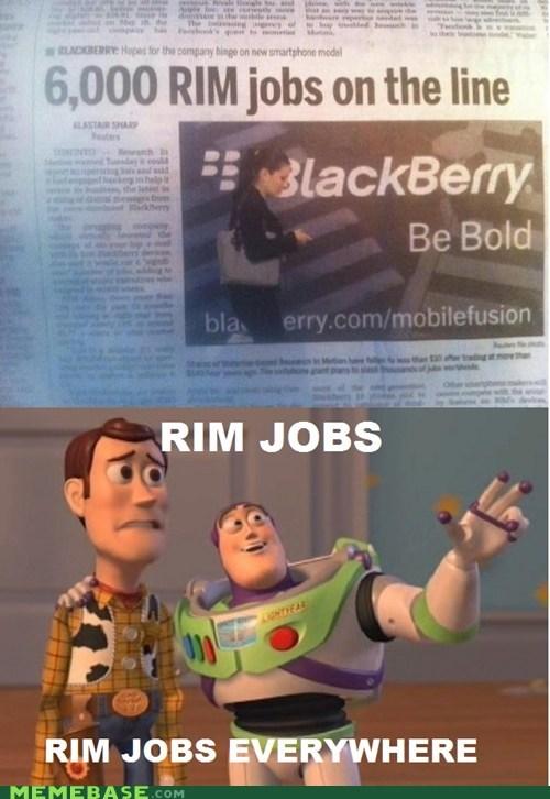 so many RIM jobs everywhere