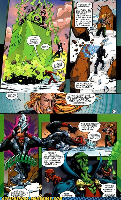 aquaman one liners Green lantern