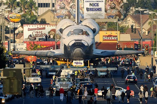 space shuttle,endeavour,los angeles