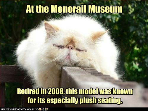 At the Monorail Museum Retired in 2008, this model was known for its especially plush seating.