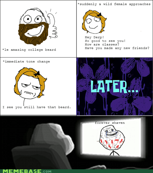 beard,forever alone,women