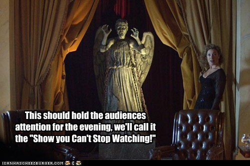 weeping angel,alex kingston,attention,cant-stop,doctor who,evening,show,River Song