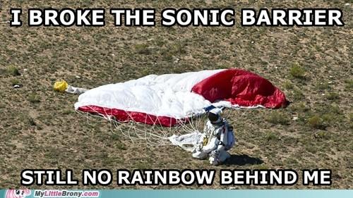 rainbow,rainboom,felix baumgartner