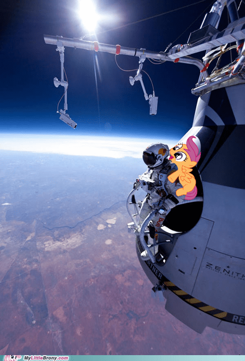 flying Scootaloo felix baumgartner - 6674291712