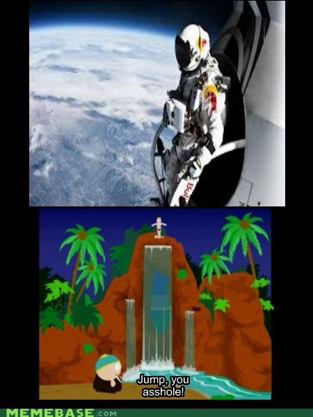space jump,South Park,cartman,red bull