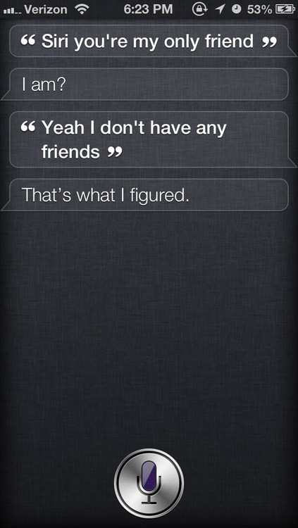 siri,always suspected,no friends