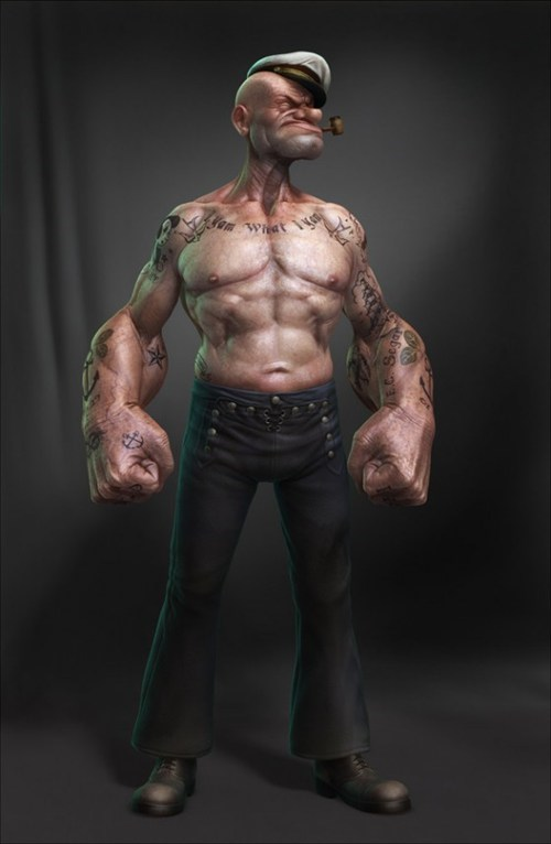 popeye,real life,IRL,lee romao