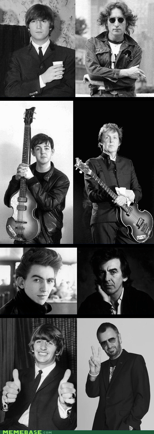old beatles alive and dead young