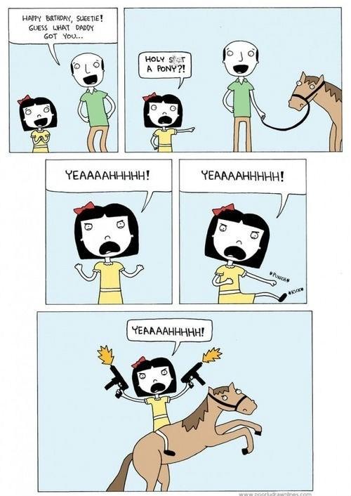 comic horse birthday present