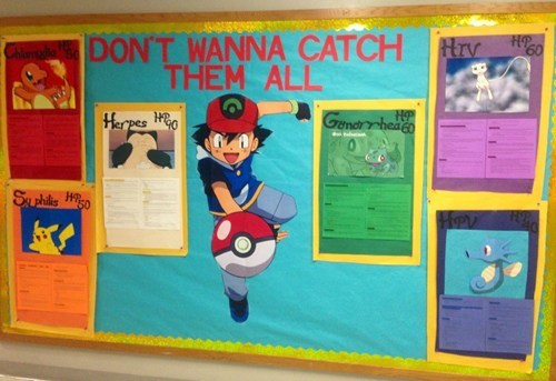 no thanks,catch em all,STDs,Pokémon,educational