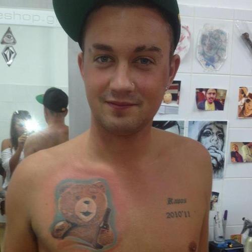 TED teddy bear chest tattoos - 6674694144
