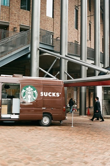 Vans With Sliding Doors Wasn't Your Best Idea, Starbucks...