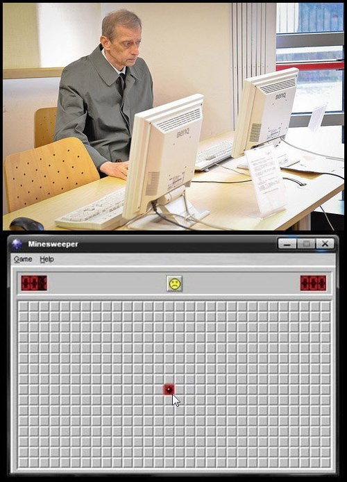 video games Minesweeper sadness computers - 6674891776