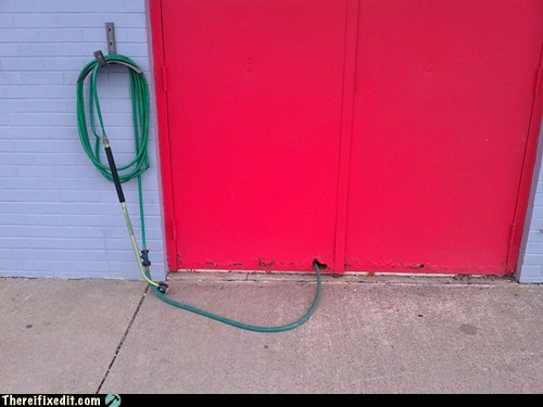 secret knock,water,hose
