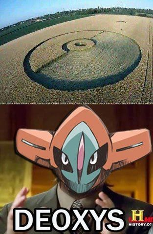 deoxys,crop circles,Aliens,meme,Pokeballs