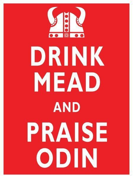 drink mean,praise odin,keep calm,vikings