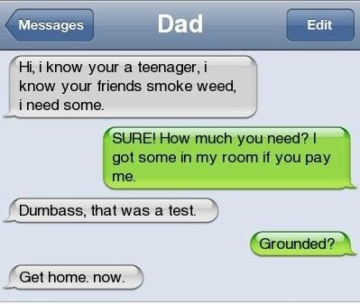 dad text marijuana