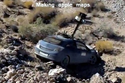 apple maps,apple maps car,making apple maps