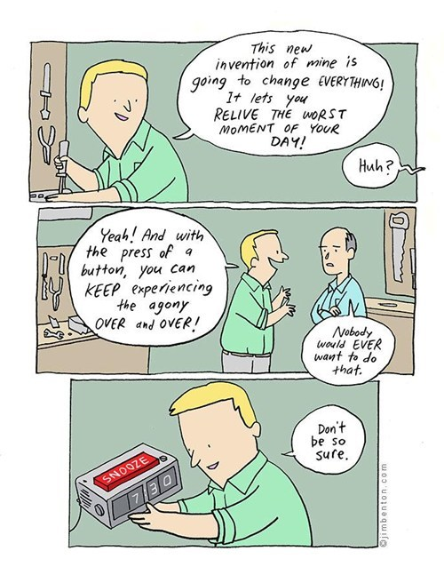 alarm clock worst moment of the day jim benton - 6675127808