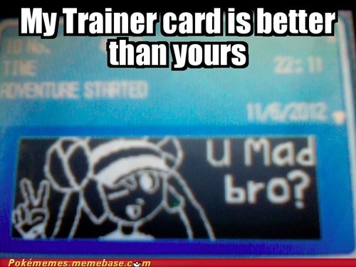 u mad,trainer card,Pokémon,rosa