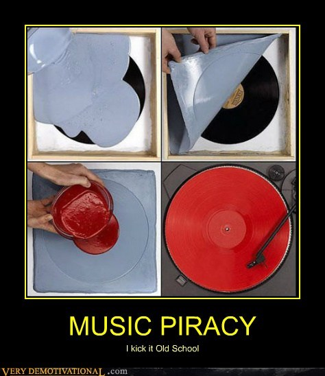 Music piracy old school