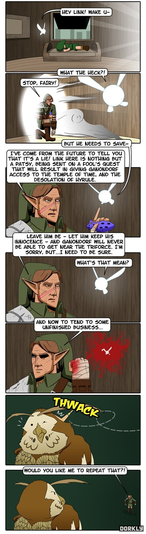 the legend of zelda,dorkly,navi,zelda,comic