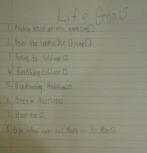 life goals,childrens-writings