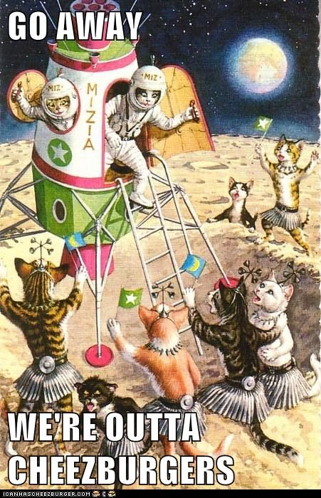 Aliens cheezburgers spaceship Cats space - 6675717632