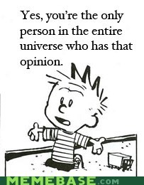 calvin and hobbes,am i the only one,opinions,universe