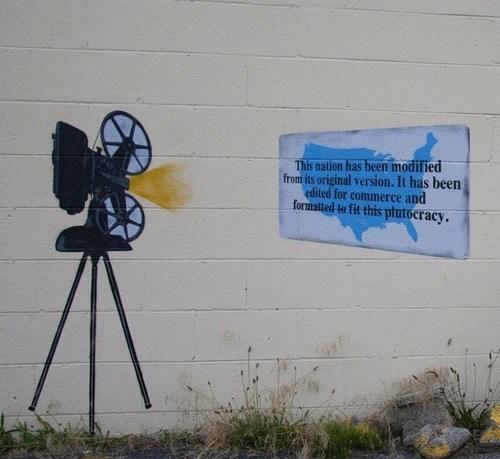 hacked irl politics troofax true facts america Street Art graffiti - 6676104960