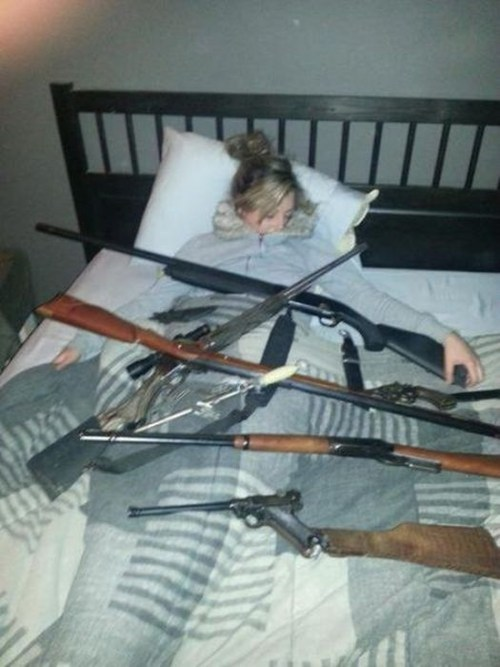 protected,what,gun,sleeping,weird
