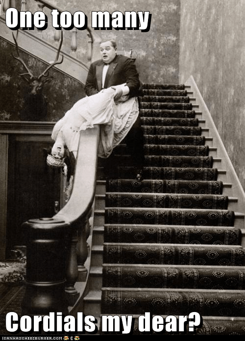 woman,drunk,stairs,cordials