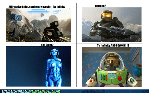 Halo 4,cortana,master chief,space,toy story
