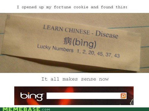 bing disease chinese fortune cookie - 6676650752
